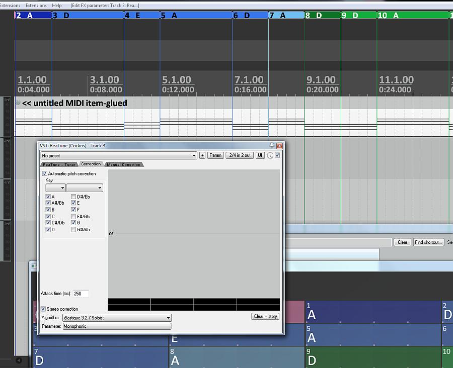 ReaTrak Studio & UJAM Instruments with Midi Chord Track